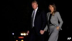 Le président américain Donald Trump et la première Dame Melania Trump à Washington, le 10 mai 2018