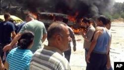 تصویر خبرگزاری دولتی سوریه از انجفار در لاذقیه