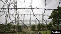 Một trạm phát điện ở vùng ngoại ô của Jammu, Ấn Ðộ