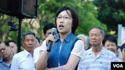 從南京到香港的大陸遊客李婕