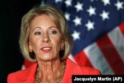 Education Secretary Betsy DeVos.