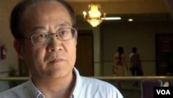 加拿大維多利亞大學政治系、歷史系教授吳國光(美國之音章真拍攝)