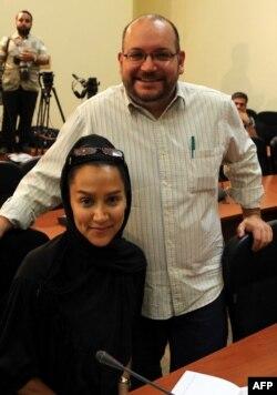 Nhà báo người Mỹ gốc Iran của tờ Washington Post hiện vẫn bị giam giữ ở Iran, Jason Rezaian, chụp cùng vợ Yeganeh Salehi.