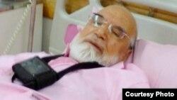 مهدی کروبی در بیمارستان پس از جراحی قلب
