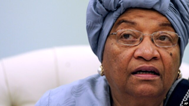 Liberia's President Ellen Johnson Sirleaf (2010 file photo).