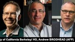 نوبیل پرائز حاصل کرنے والے تین امریکی سائنس دان (فائل فوٹو)