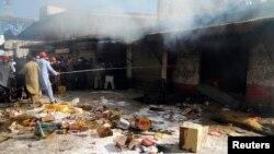 گزشتہ جمعہ کو نامعلوم افراد نے کئی املاک کو نذر آتش کر دیا تھا