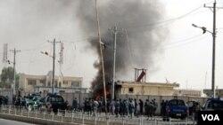 Explosion à Lashkar Gah , la capitale afghane, le 31 juillet 2016.