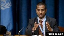 """Điều tra viên đặc biệt của LHQ về Iran, ông Ahmed Shaeed, nói rằng: """"Hành động gia tăng dọa nạt các nhà báo cản trở khả năng hoạt động tự do của họ tại Iran"""""""