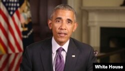 President Barack Obama delivers his weekly address, Oct. 8, 2016.