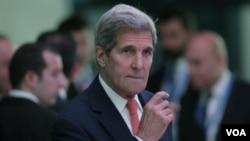 ລັດຖະມົນຕີ ຕ່າງປະເທດ ສະຫະລັດ ທ່ານ John Kerry.