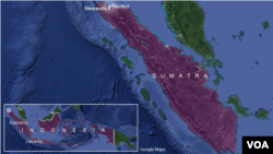 Earthquake epicenter, near Reuleut, Sumatra, Indonesia