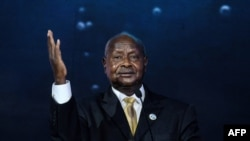Perezida wa Uganda Ouganda Yoweri Museveni i Nairobi, Kenya, 26/11/2018.