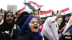 Demonstrasi anti-Mubarak terus berlanjut di seluruh Mesir termasuk di Alexandria, Sabtu 5 Februari 2011.