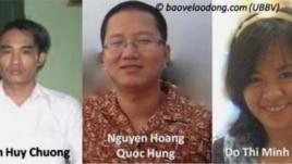 Ba nhà hoạt động Đoàn Huy Chương, Nguyễn Hoàng Quốc Hùng, Đỗ Thị Minh Hạnh