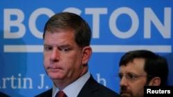 Wali Kota Boston Marty Walsh dalam konferensi pers di Massachusetts, 31 Mei 2017. (Foto: Reuters)