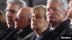 Thủ tướng Đức Angela Merkel tại một buổi lễ tưởng niệm các nạn nhân vụ tấn công ở Berlin ngày 20/12/2016.