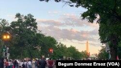 星期六美國首都華盛頓出現的抗議示威。