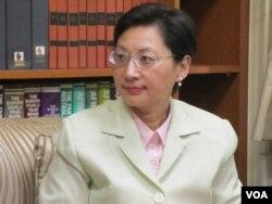 台湾外交部发言人高安(美国之音张永泰 拍摄)