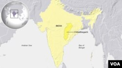 Chhattisgarh state, India
