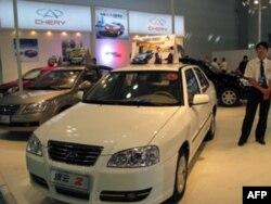 中国自主品牌奇瑞汽车展台