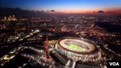 Stadion Olimpiade West Ham sebagaimana yang diilustrasikan seorang artis pasca Olimpiade 2012 (foto: dok).