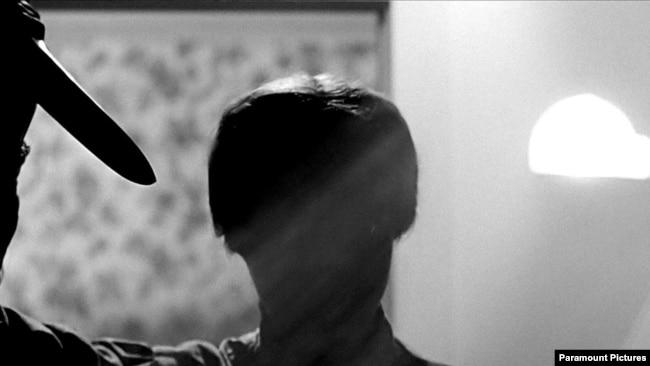 Кадр знаменитой сцены убийства в душе из культового фильма «Психо» Альфреда Хичкока