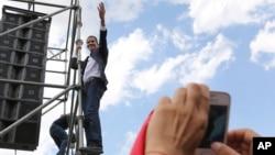ვენესუელის კონგრესის პრეზიდენტი და თვითგამოცხადებული დროებითი პრეზიდენტი ხუან გუაიდო
