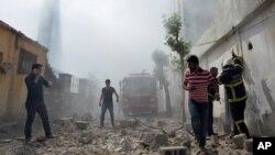 18 Ocak'tan itibaren başlayan saldırılarda Kilis'e şimdiye kadar 71 roket atıldı