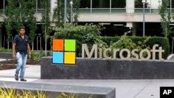 Trụ sở công ty Microsoft ở Redmond, Washington, ngày 3/7/2014.