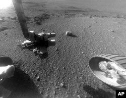 지난 1월 미국 항공우주국(NASA)가 찍은 화성의 표면. (자료사진)
