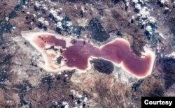 Çin Kosmik Stansiyasının Urmiyə Gölündən yayımladığı yeni şəkil