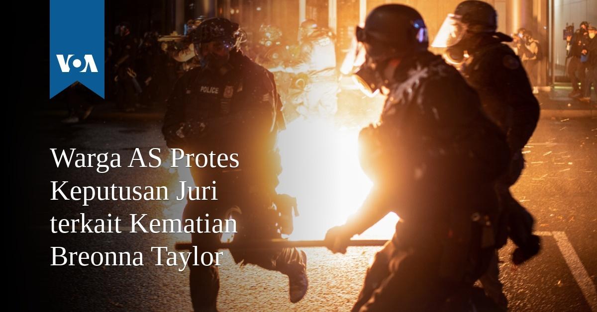 Warga AS Protes Keputusan Juri terkait Kematian Breonna Taylor