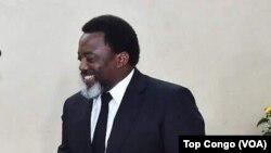 Le président Joseph Kabila, Kinshasa, RDC, le 27 octobre 2017 (VOA/Top Congo)