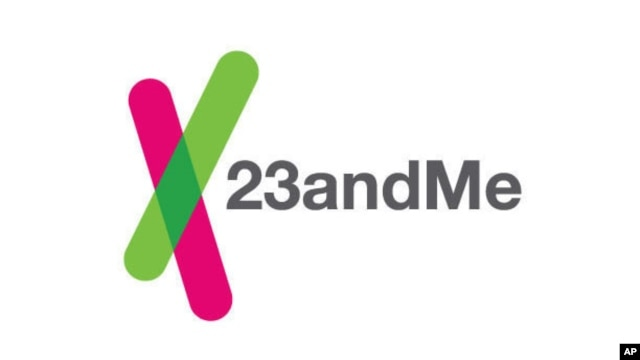 This image provided by 23andMe shows the company's logo. The U.S. Food and Drug Administration is ordering genetic test maker 23andMe to halt sales of its personalized DNA test kits.