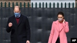 Britain's Prince William and Kate, Duchess of Cambridge visit School21, a school in east London, Thursday March 11, 2021.