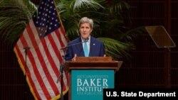克里國務卿在萊斯大學貝克研究所(Baker Institute)發表演說