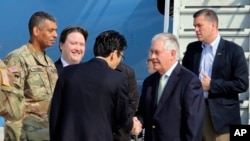 美国国务卿蒂勒森于星期五抵达韩国(2017年3月17日)