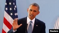 美國總統奧巴馬於塞內加爾舉行的記者會上談到泄密事件的問題