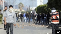 Highly educated but unemployed young people have been in the forefront of recent protests in Tunisia, like this one in Sidi Bouzid, 10 Jan 2011
