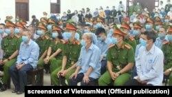 Một phiên xử vụ án Đồng Tâm ngày 10/9/2020.