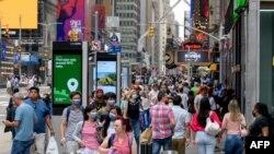 Площадь Таймс-Сквер в Нью-Йорке, 13 июля 2021 года
