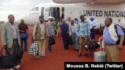 Le panel sous la conduite de l'UA en Centrafrique, le 1er avril 2018. (Twitter/Moussa B. Nebié)