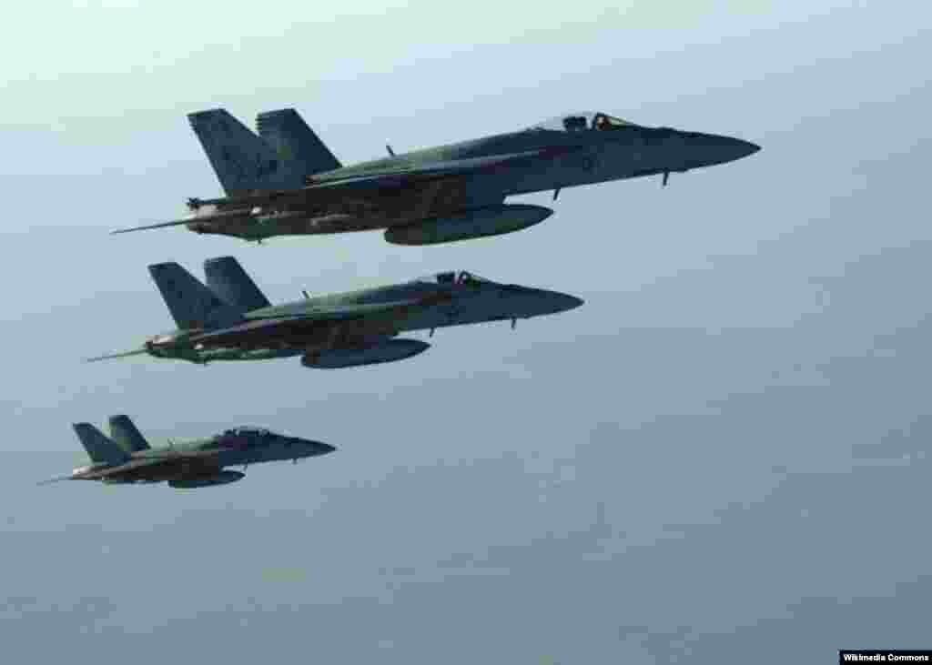 Les frappes aériennes américaines dans le Nord de la Syrie.
