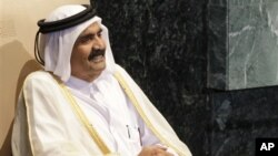 Эмир Катара шейх Хамад Бен Халифа Аль-Тани.