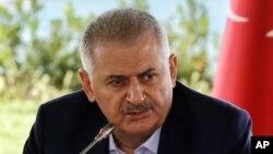 Le Premier ministre turc Binali Yildirim, 20 août 2016.