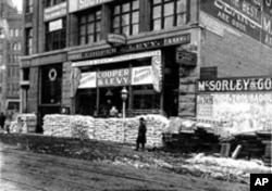 Just as San Francisco became a boomtown supplying prospectors heading into the California gold camps, stores like Cooper & Levy Pioneer Outfitters thrived during the Klondike frenzy a half century later.