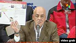 Jorge Rodríguez muestra correos de la cuenta de María Corina Machado y un esquema del plan de magnicidio.