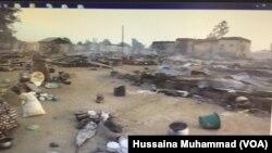 Wani yankin jihar Bornon Najeriya da mayakan kungiyar Boko Haram suka kai hari a baya