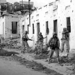 U.S. Marines in Mogadishu, Somalia, in February 1993
